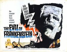 movie film repro Hammer horror evil of fankenstein Poster  A3 This A print