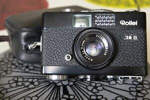 Rollei 35B compact 35mm camera with original case