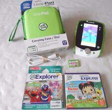LeapFrog Leap Pad 2 Explorer Learning Tablet, New Green Case, 3 games & USB Cord