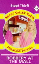 Very Good, Robbery at the Mall (Sweet Valley Twins), Suzanne, Jamie, Book