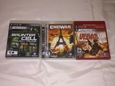 PS3 (Lot of 3) Tom Clancy Splinter Cell Trilogy, End Game, Rainbow 6 Vegas 2