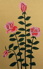 """Lester Hines """"Four Roses"""" Hand Signed Serigraph Fine Art 1979, Make An Offer!"""