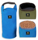 Collapsible Dog Food Storage Container & Travel Pet Bowls Camping Accessories