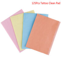 125Pcs Disposable Tattoo Clean Pad Waterproof Medical Paper Tablecloths Mat GD