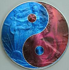 Yin Yang - Holographic American Silver Eagle 1oz .999 Silver Dollar Coin