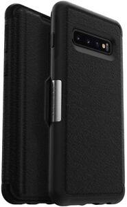 OtterBox STRADA SERIES Leather Folio Case for Samsung Galaxy S10 - Shadow Black