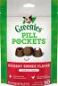 Greenies Pill Pockets Tablet Natural Dog Treats Hickory Flavor 30 Pack 7.9 Oz