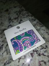 NEW Vera Bradley Colorful Hair Elastics Waikiki Paisley Blue 8 in Package