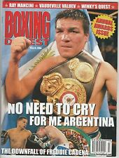 BOXING DIGEST MAGAZINE CARLOS BALDOMIR COVER MARCH 2006
