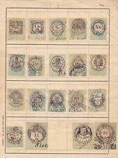 AUSTRIA CROATIA HUNGARY REVENUE STAMPS 1868 LOT RARE USED CONDITION