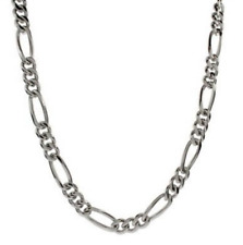 "Men's 30"" Inch Stainless Steel Figaro Chain Link 7mm Necklace C10"