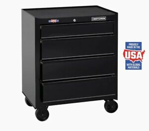 Rolling Tool Cabinet 26.5-in W x 32.5-in H 4-Drawer Steel Chest Craftsman