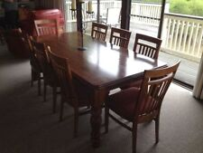 Pine Rectangular Dining Furniture Sets with 9 Pieces