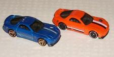 New 2020 Hot Wheels Car Lot of 2 '95 Mazda RX-7 Orange Blue MINT HW VHTF RX7