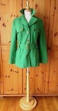 PRINCIPLES size UK12 EU40 US8 bright green military trenchcoat jacket