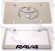 Toyota RAV4 Stainless License Frame & Mirror Plate Combo Rust Free
