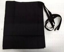 Alexandra Work wear Plain Black Half Tie Waist Apron With Two Front Pockets BNIP
