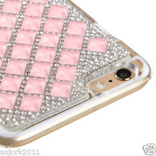 "iPhone 6 Plus (5.5"") Snap Fit Back Cover 3D Bling Gem Case Pink Diamond"