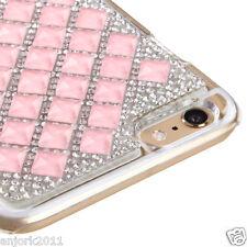 "iPhone 6 Plus (5.5"") Snap Fit Back Cover 3D Bling Gem Case Pink Diamond"