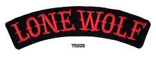 LONE WOLF RED ON BLACK Top Rocker