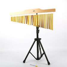 More details for 36 tone golden bar wind chimes musical percussion instruments with tripod stand