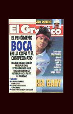 SOCCER BOCA JRS 3 vs FLAMENGO 0 LIBERTADORES CUP 1991 El Grafico #3736 magazine