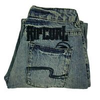 Ripcurl Classic Straight Leg Vintage Blue Jeans Size 14