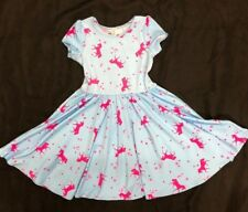 NEW  Girls Cup Twirl Pink & Blue Unicorn Summer dress Girls