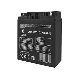 Batterie gel rechargeable 12V 18Ah sans entretien, sans fuite LX12180