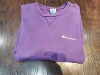 Vintage Champion Short Sleeve Sweatshirt Size XXL XX-Large Purple EUC
