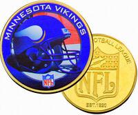 ●● MEDAILLE PLAQUéE OR ● NFL FOOTBALL AMERICAIN ● MINNESOTA VIKINGS