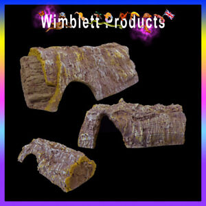 Bark & Wood Effect Reptile Cave Hide For Reptile Gecko Spider Snake