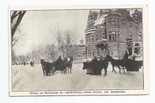 Winter on Sherbrooke St. Montreal, Scene d'hiver, Rue Sherbrooke