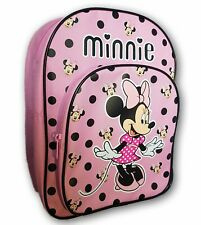 Disney Minnie Mouse Backpack Pink and Black School Bag. New