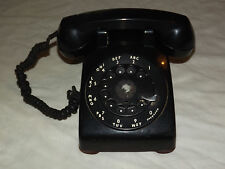 VINTAGE BELL SYSTEM PROPERTY WESTERN ELECTRIC  BLACK ROTARY DIAL PHONE