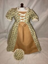 Made To Fit Pleasant Company American Girl: Felicity Lace Pinafore 4 Piecd Dress