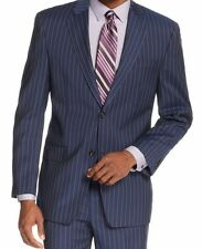 NWT Sean John Navy Pinstriped Two Button New Men's Blazer  38 Regular