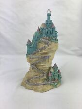 Spoontiques Wizard Blue- Green Castle Figurine 8� H- Flaw
