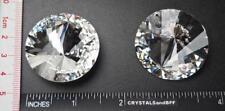 Rare Swarovski Asymmetrical Beauty Rivoli Stone #1222, 38mm Clear Crystal SilvF