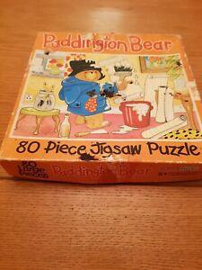 Vintage Paddington Bear Jigsaw 80 Pieces COMPLETE