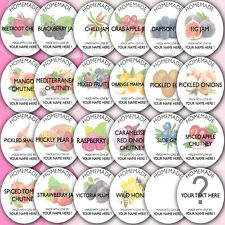 48x Personalised Jam Pot Lid Jar Labels Stickers Homemade Preserves Conserve