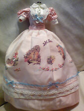 BARBIE COLLECTOR BEATRIX POTTER PINK DRESS FASHION COSTUME HTF