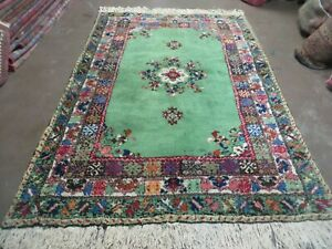 5' X 7' Vintage Hand Made Moroccan Tribal Wool Rug Carpet Blue