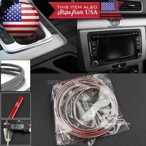 """108"""" Chrome Molding Stripe Trim Line For Mazda Subaru Console Dashboard Grill"""