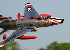 """1/8 Scale F-100D SUPER SABRE scratch build r/c Plane Plans & Instr 56""""ws DUCTED"""