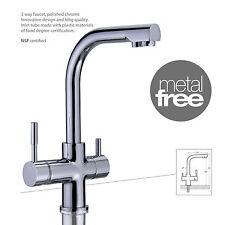 Dreiwege-Wasserhahn MERCURY METAL FREE Chrom für Osmoseanlagen Wasserfilter
