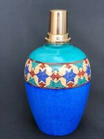ANCIENNE LAMPE BERGER LIMOGES FRANCE A DECOR GEOMETRIQUE STYLISE VINTAGE C1686