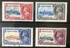 British Virgin Islands fine used 1935 Silver Jubilee set of 4