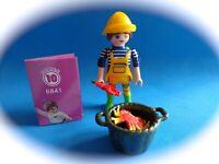 Playmobil Figures Series 10 Pescadora con cangrejo y boganvante Fischerfrau