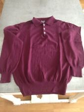 Pull col polo homme Serge Blanco violet taille M